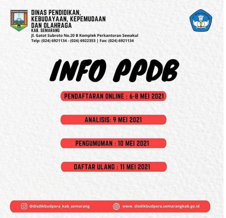 Pendaftaran PPDB SMP 2021/2022